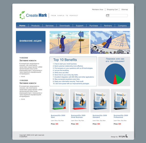 Дизайн сайта контакты